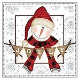 Jolly Snowman Art Print
