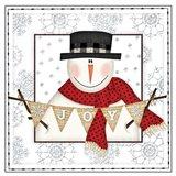 Joy Snowman Art Print