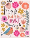 Home Makes My Heart Smile Art Print