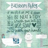 Bathroom Rules Art Print