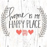 Home is my Happy Place Art Print