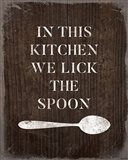 Lick the Spoon Art Print