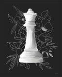 White Queen Floral Art Print
