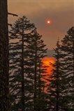 Smokey Sunset - Crater Lake Art Print