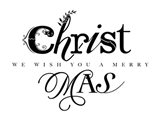 Black and White Merry Christmas Art Print