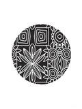 Boho Black and White Ball Art Print
