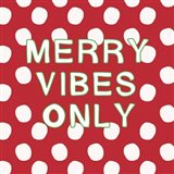 Merry Vibes Only with Snowballs Art Print