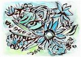 Beach Glass Flowers I Art Print
