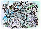 Beach Glass Flowers II Art Print