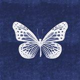 White Butterfly II Art Print