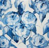 Blue and White Roses Art Print