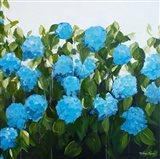 Blue Hydrangeas I Art Print
