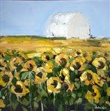Sunflower Storehouse Art Print