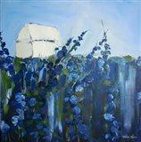 Blue Storehouse Art Print