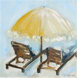 Beach Chairs II Art Print