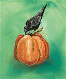 Pumpkin and Bird Art Print