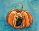 Pumpkin & Crow Art Print