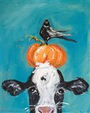 Cow and Friends Art Print