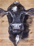 Black Cow Art Print