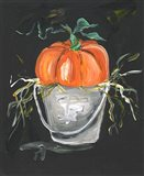 Pumpkin in a Bucket Art Print