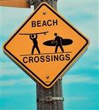 Beach Crossing Art Print