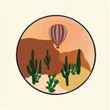 Hot Air Desert Art Print