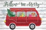 Follow Your Merry Art Print