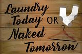 Laundry Today or Naked Tomorrow Art Print