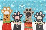Christmas Paws Art Print