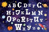 Space Alphabet Art Print