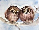 Owls Art Print