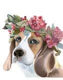 Flower Crown Puppy Art Print