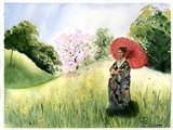Asian Landscape II Art Print