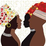 African Men and Women IV Art Print