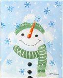 Falling Snowflakes Art Print