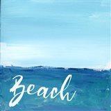 Beach By the Sea Art Print