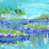 Blue Series Inspiring Art Print