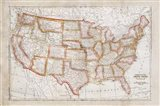 Map of USA Art Print