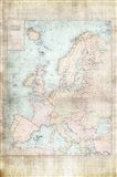 Central Europe Map WWII Art Print