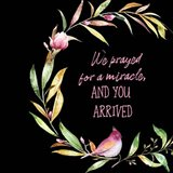 We Prayed for a Miracle Art Print