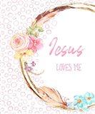 Jesus Loves Me Art Print
