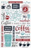 Coffee Collage Art Print