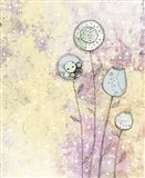 Lavender Floral Abstract Art Print