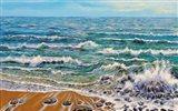 Wind White Waves Art Print
