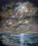 Moody Moon Light I Art Print