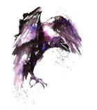 Halloween Crow Art Print