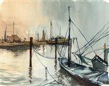 Nautical Scape Art Print