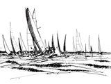 Boat Sketch II Art Print