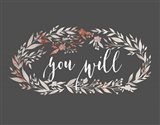 You Will Wreath Art Print