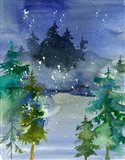 Watercolor Winter Art Print